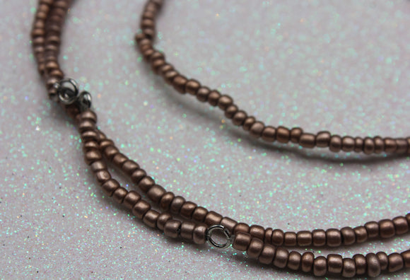 Adjustable Waist Beads: Copper Set