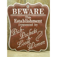 Sign - Beware - Large Hoop