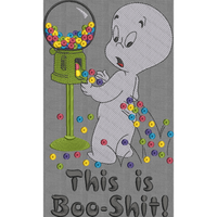 Boo Shit! - Large Hoop