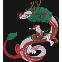 Christmas Dragon 6X10