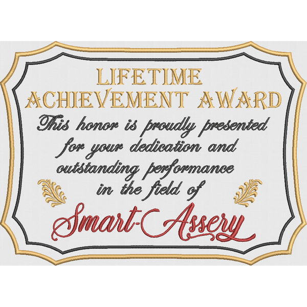 Lifetime Achievement Award - Large Hoop