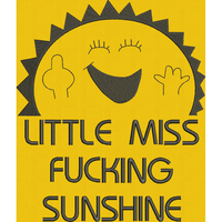 Little Miss Sun - Large Hoop