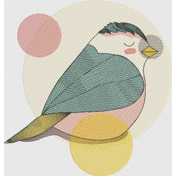 Pretty Pastel Bird - Large Hoop