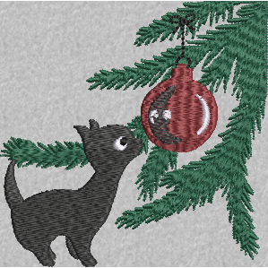 Retro XMas Kitty 4X4