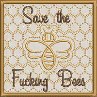 Save the Bees Applique 4X4