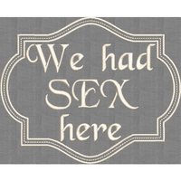 We Had Sex Here