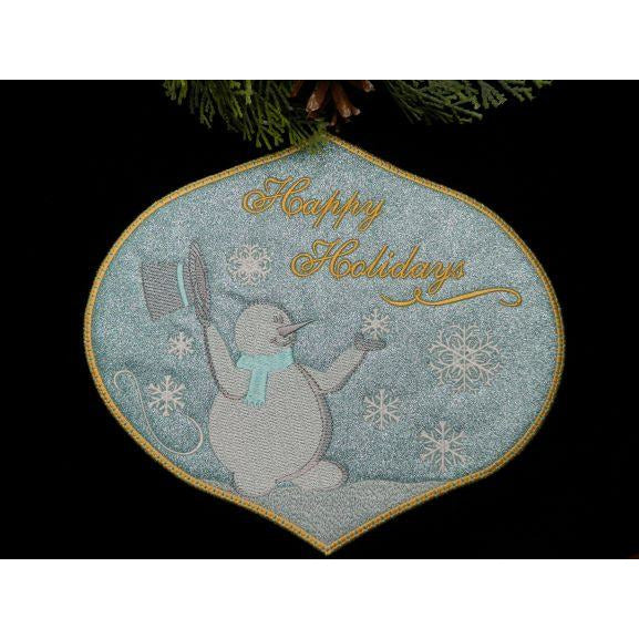 Sign - Happy Holidays - Large Hoop