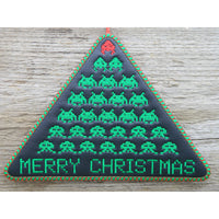 Sign - Space Invader XMas - Large Hoop