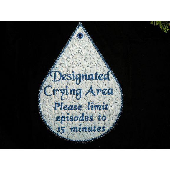 Sign 10X7 - Crying Area