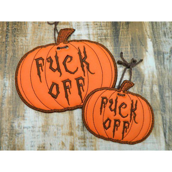 Sign 5X7 - Fuck Off Pumpkin