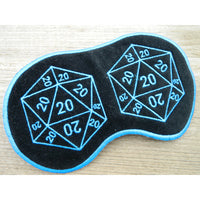 Sleep Mask - 20 Sided Dice