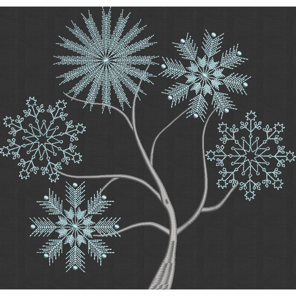 Snowflake Tree - Large Hoop
