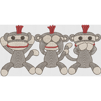 Sock Monkey Trio