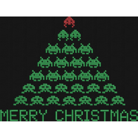 Space Invader XMas Tree - Large Hoop