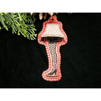 Ornament - Leg Lamp with Fringe