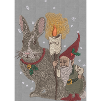 Christmas Rabbit Gnome