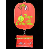 Christmas Advent Grinch - Large Hoop