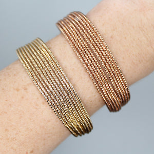 LAYERED METAL CUFF