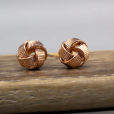 GOLD DIPPED KNOT STUD EARRINGS