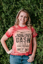 Load image into Gallery viewer, Johnny Cash Bleached Band Tee