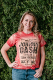 Johnny Cash Bleached Band Tee