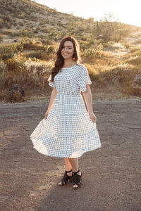 Tisha's Checkered Midi Dress