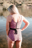 Animal Print High Waist Swimsuit Bottoms