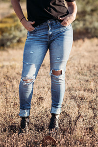 Kan Can High Rise Skinny Jeans