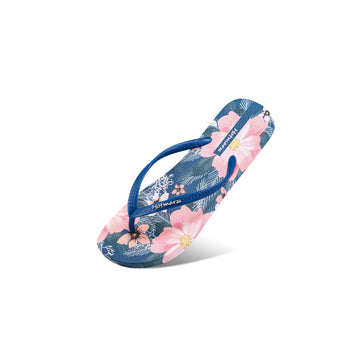 Hotmarzz Women's Rose Blue Flat Sandals