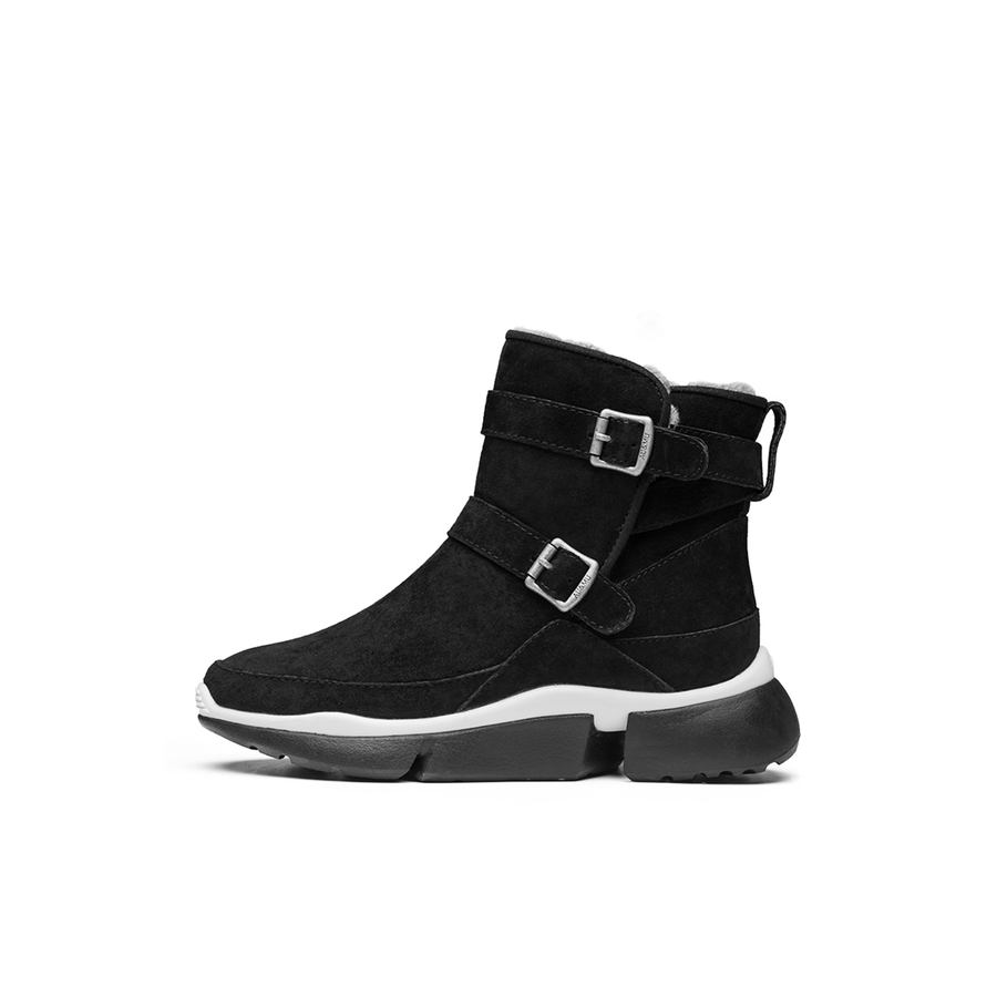 AU&MU Women's Virgo Leather Snow Boots