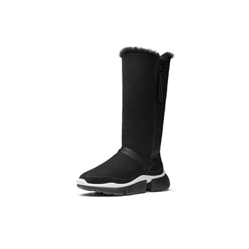 AU&MU Women's Limited Long Twin-face Sheepskin Snow Boots