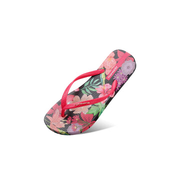 Hotmarzz Women's Floral Pattern Summer Beach Flat Sandals