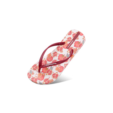 Hotmarzz Women's Pomegranate Pattern Flat Sandals
