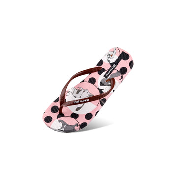 Hotmarzz Women's Pokadot Cartoon Flat Sandals