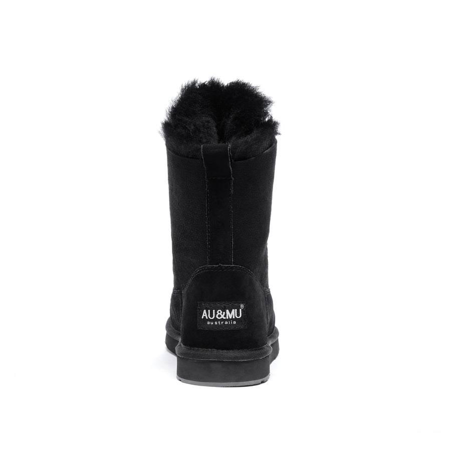 AU&MU Unisex Lyra Twin-Face Sheepskin Snow Boots