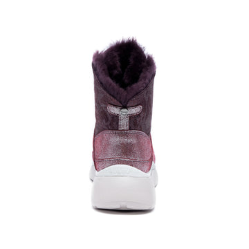 AU&MU Women's Lacerta Twin-Faced Sheepskin Snow Boots
