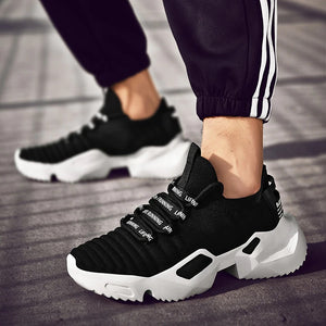 Urban Booster Pro Light Men's Sneakers - Black-White