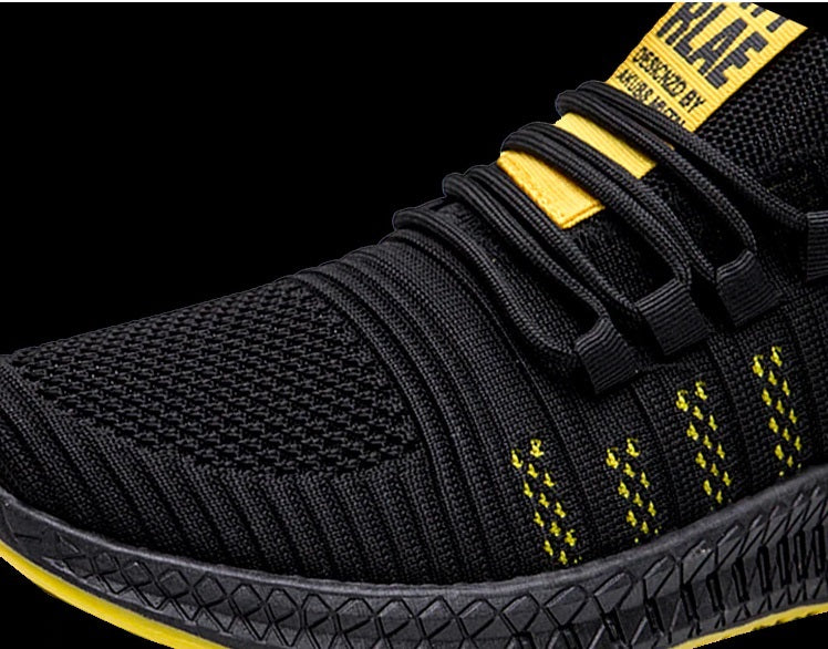 X-Walker Razor Super Light Running Men's Shoes - Black-Yellow