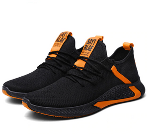 X-Walker 1.0 Breathable Running Men's Shoes - Black-Orange