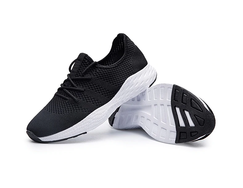 EasyStep Classic Light Running Shoes for Him&Her - Black-White