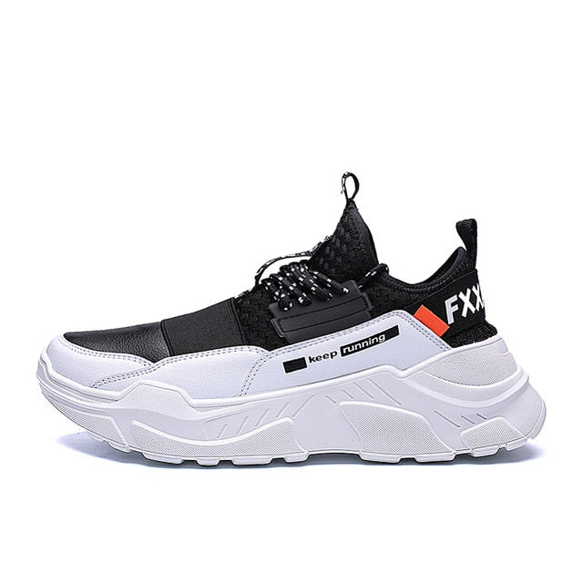 Urban Booster FXXK OFF Style Men's Sneakers - Black-White