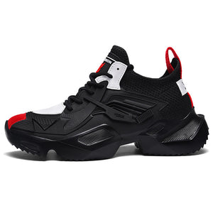 Urban Booster Pro Light Men's Sneakers - Black-Red
