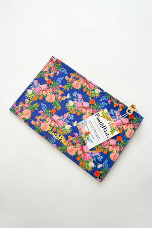 Galaxy Blue  Floral Accessory Case