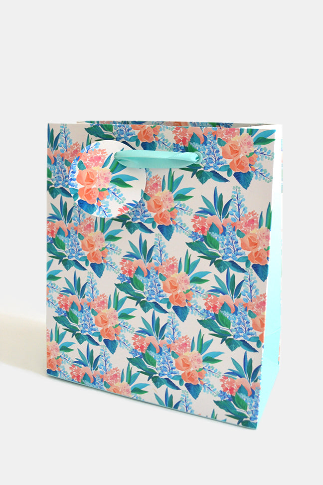 Pacific Blue Small Paper Gift Bag