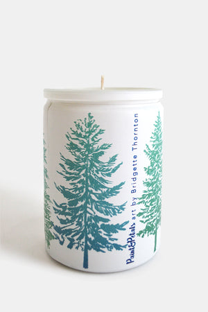 Tahoe Pines Glass Candle