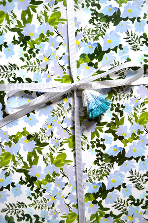 Blue Blooms Gift Wrap