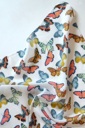 Butterfly Toss Square Scarf