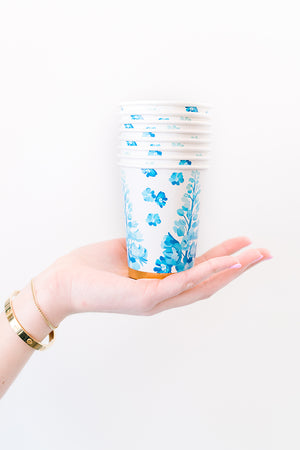 Pacific Blue Paper Cups