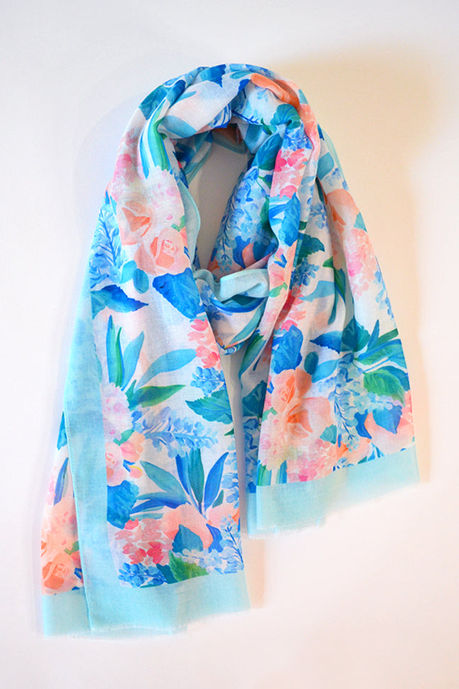 Pacific Blue Long Scarf