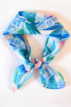 Pacific Blue Square Scarf